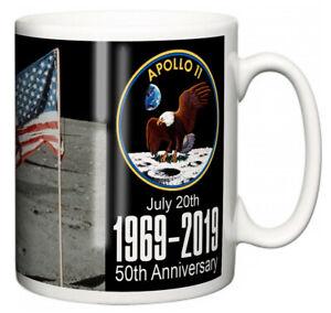 "Neil Armstrong Mug ""Apollo 11 Moon Landing 50th Anniversary Quote"" Ceramic Gift"