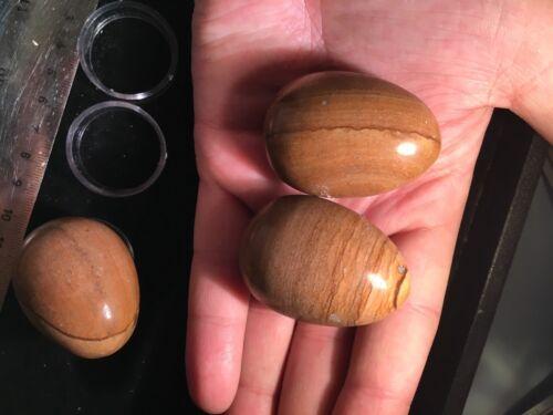 45mm Polished Picture Desert Jasper Egg Stone Ball W Stand Yoni