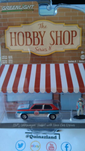 Greenlight Hobby Shop 1975 Volkswagen Rabbit with Race Car Driver NG73