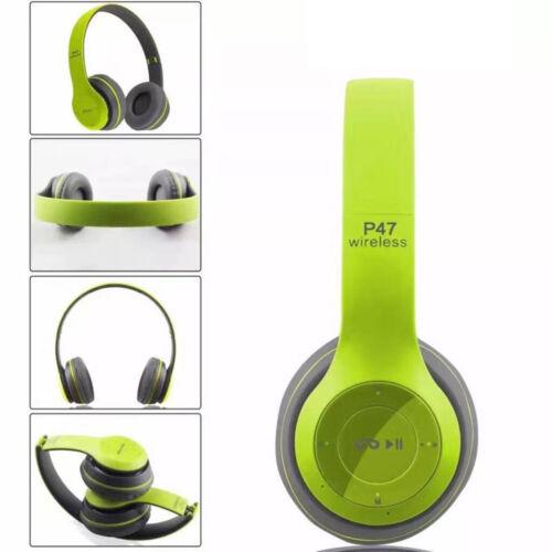 Wireless Bluetooth Headsets Earphones Stereo Super Bass Mic Head Over Headphones
