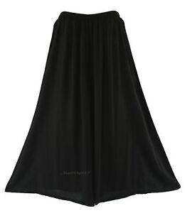 478cc63ae160a Image is loading Black-Palazzo-Wide-Leg-Pants-Trouser-Plus-Size-