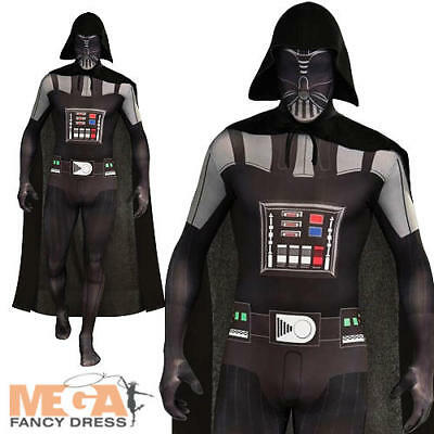 Darth Vader 2nd//Second Skin Star Wars Body Suit Fancy Dress Size M L /& XL