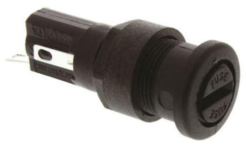 Bulgin BT172D Series 16 un fendue Cap Panel Mount Porte-fusible pour 5 x 20 mm Fusible,