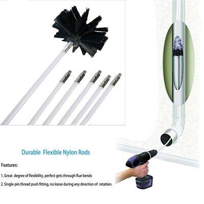 Dia 4inch Chimney Cleaner Brush Rotary Sweep Flexible Rod