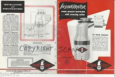 1948 IN-SINK-ERATOR Kitchen Food Waste DISPOSER Garbage Disposal Vintage Catalog