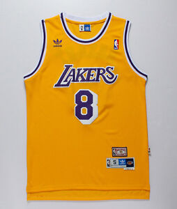 finest selection 29c75 72eb0 Details about NEW Los Angeles Lakers #8 Kobe Bryant basketball Yellow  Jersey Size S-XXL