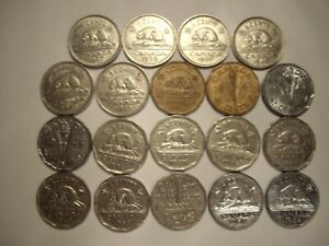A-Canada-George-VI-1937-52-Five-Cents-Lot-of-19-Coins