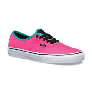 06d9d1cd05 VANS Authentic (Brite) Neon Pink Black Men s Classic Skate Shoes