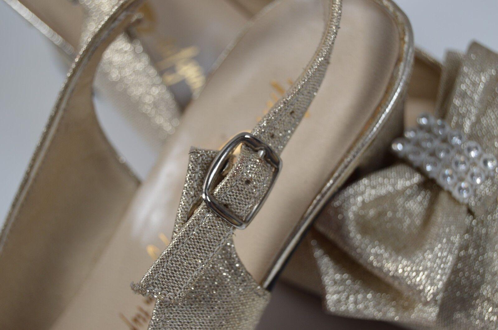 GÖRTZ Damen True Slingbacks Pumps NOS 70er True Damen Vintage 80s Sandalen gold block heel e49cb4