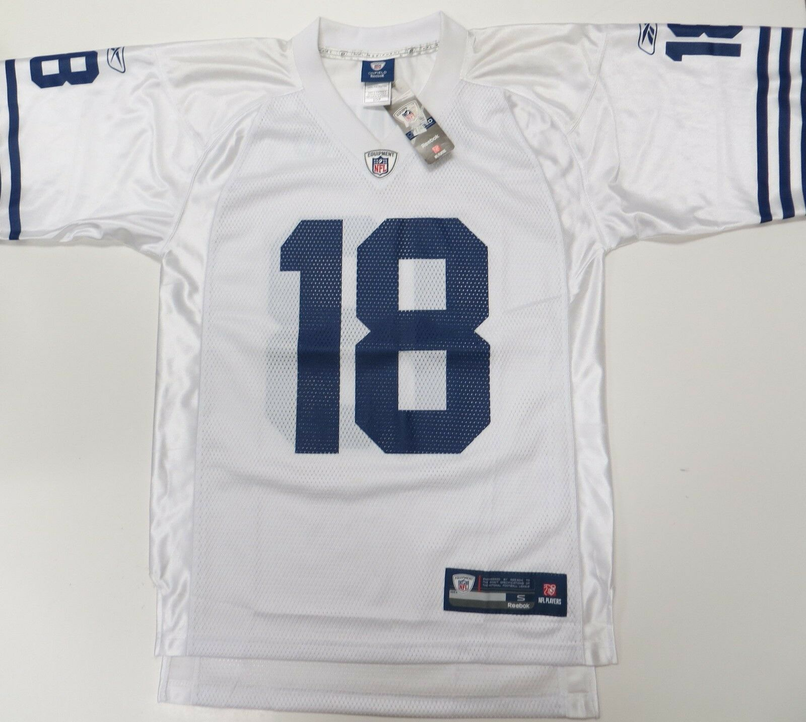 Peyton Manning  18 Indianapolis Colts Jersey Small Reebok NFL On Field New Weiß