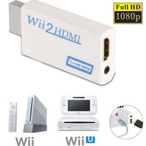 Wii auf HDMI Adapter Konverter Stick Upskaler 720p 1080p 60HZ Full HD TV Audio