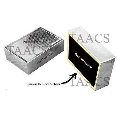 Hvac Return Air Grille Can Box Metal Sides Duckboard