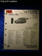 Sony Service Manual CCD FX730VE Video Camera Recorder (#0670)