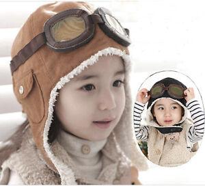 df45466cf80 Cool Warm Baby Kids Toddler Boy Girl Winter Earflap Pilot Cap ...