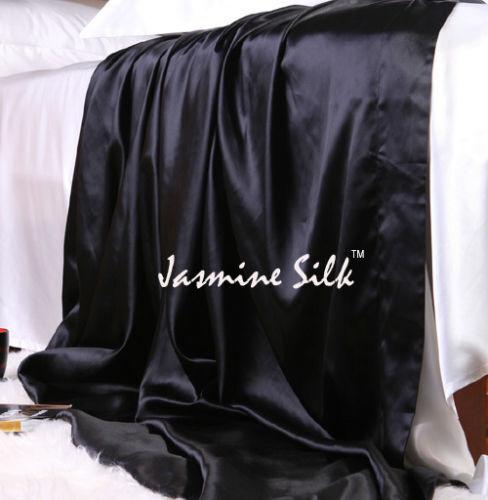 Jasmine Silk Pura Seta Lamiera Piana (Nera) - Singolo