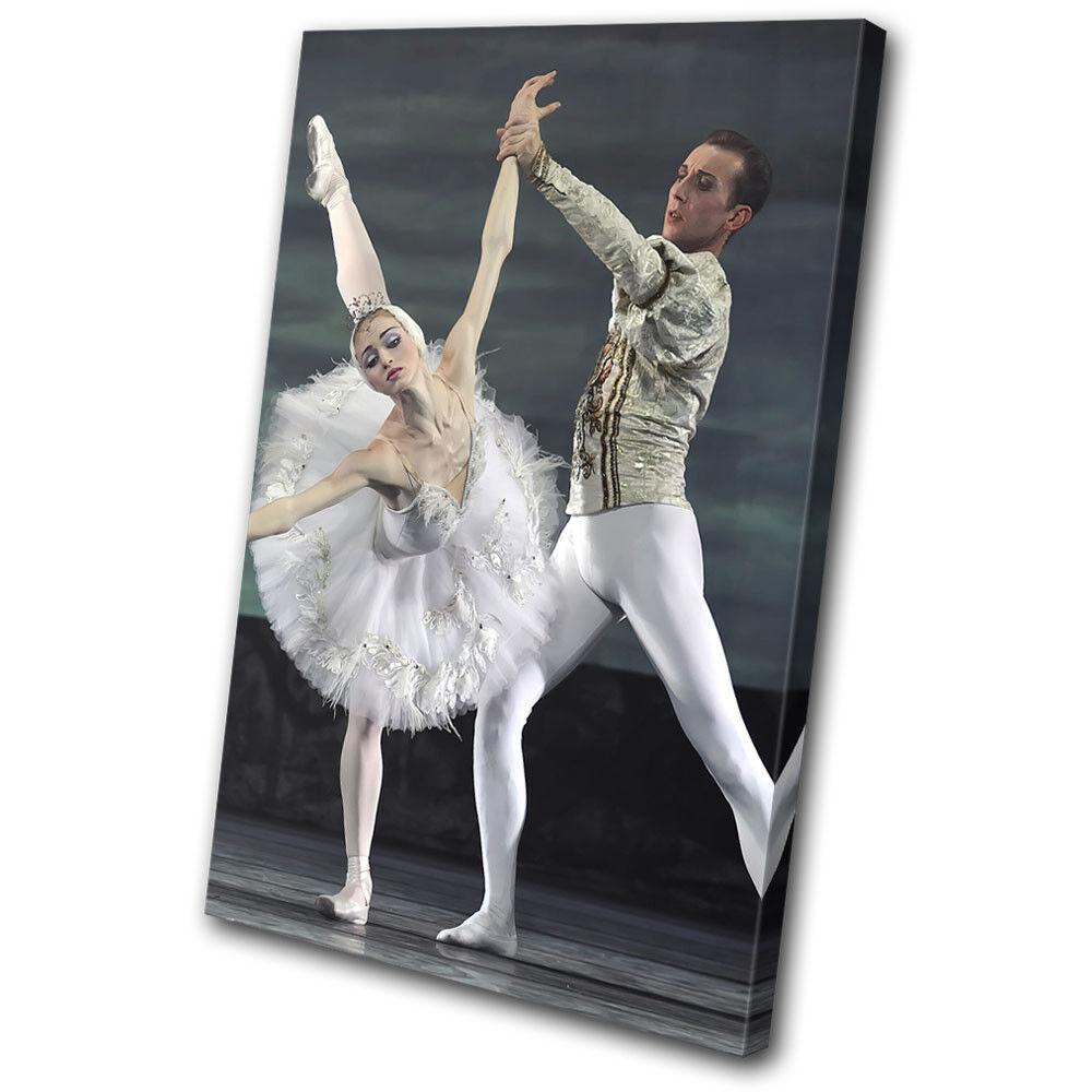 Ballet Dancers Russian Gift Performing SINGLE TOILE murale ART Photo Print