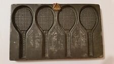 Tennis Rackets Anton Reiche flat Chocolate mold  Antique Vintage + hanging point
