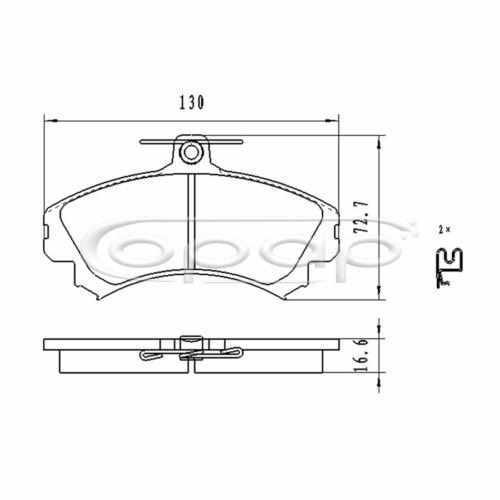 BB08044 Smart Scheibenbremse Vorderachse Mitsubishi Bremsbelagsatz