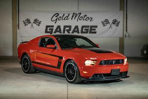 2012 Ford Mustang Boss 302, Recaro seats, 5.0L 444hp, 6spd MANUAL, 35,000kms, 2 owner, Gorgeous!
