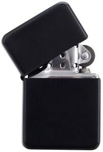 Benzinfeuerzeug-034-Z-16-034-Softflamme-Schwarz-matt-Nachfuellbar