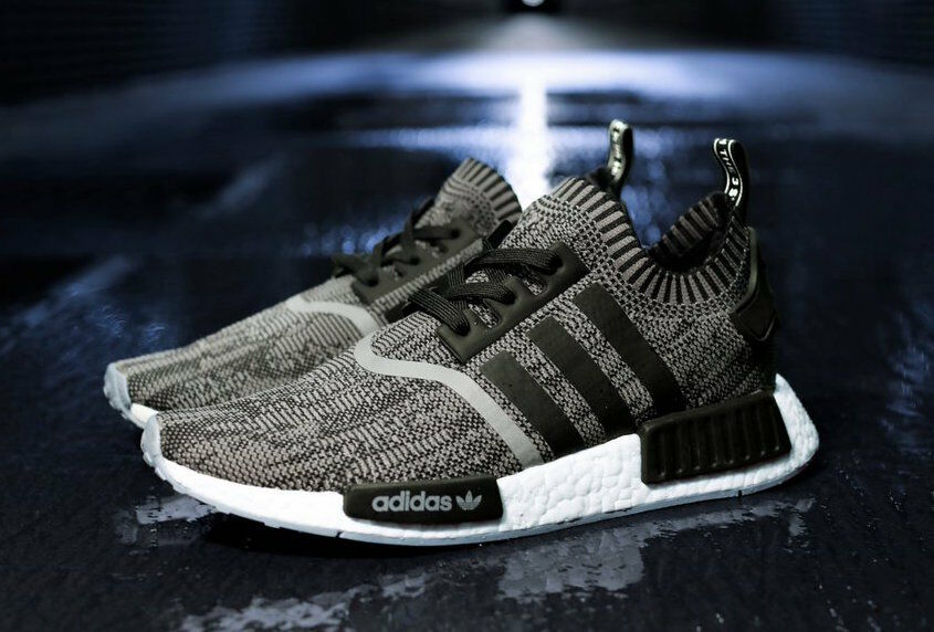 Adidas UK8 Nmd R1 Pezzi Taglia UK8 Adidas US8.5 EU42 Nero Primeknit Glitch 1 Of 900 Shoenen d6a962