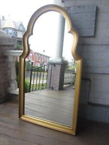 Vintage-Mid-Century-Gold-Mirror-Large-wood-VGC-44-034-x-24-034