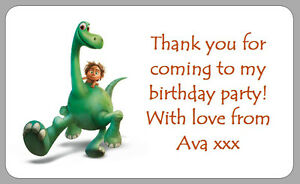 the good dinosaur kid s party stickers party bag thank you labels