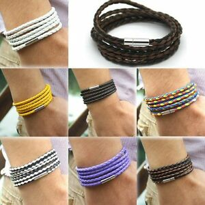 Armband-Wickelarmband-Herren-Damen-Bracelet-unisex-surfer-neu-verschiedene-Farbe
