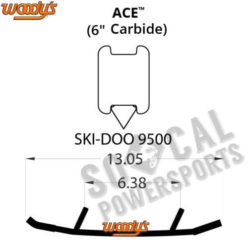 "Woody/'s Ace 6.0/"" Carbide Runners Ski Doo MX Z TNT 850 E-TEC 2017"
