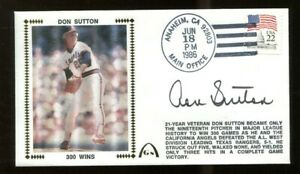 Don-Sutton-Signed-FDC-First-Day-Cover-Autographed-Angels-300-Wins-56229