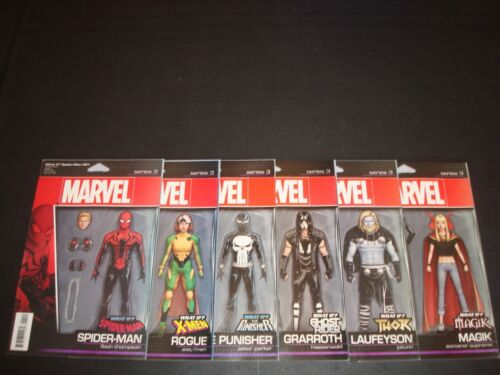 What If 1-6 Spider-Man X-Men Punisher Ghost Thor Magik Action Figure Variant Set