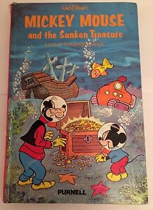 Walt-Disney-039-s-MICKEY-MOUSE-and-The-Sunken-Treasure-POP-UP-Hardback-1978