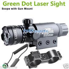 "532nm Green Dot Laser Sight QD Mount Rail 20mm/Barrel 1"" Ring/Tail Switch in#571"