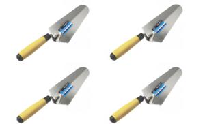 4 x Builders Brand Gauging Trowel 180mm Soft Grip Handle Bulk Deal Trowels