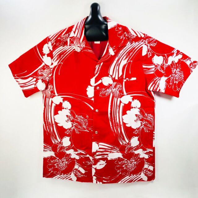 Vintage Nani of Hawaii Hawaiian Aloha Shirt Floral Red Medium
