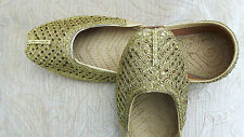 GOLD LADIES INDIAN LEATHER WEDDING   PARTY SHOES   SIZE 7