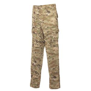 TRU-SPEC Men's Polyester Cotton Rip Stop BDU Pant, Khaki, Large Long
