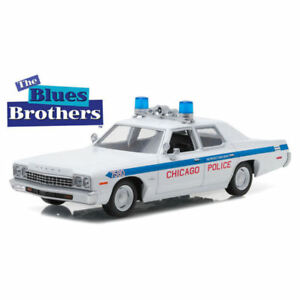 GREENLIGHT-DODGE-MONACO-CHICAGO-POLICE-1975-THE-BLUES-BROTHERS-die-cast-1-24