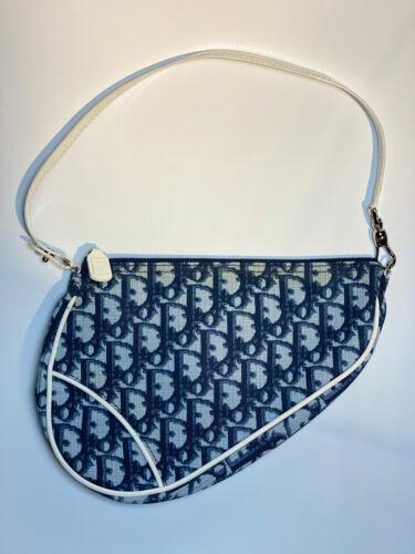 Blue Dior Oblique Saddle Bag