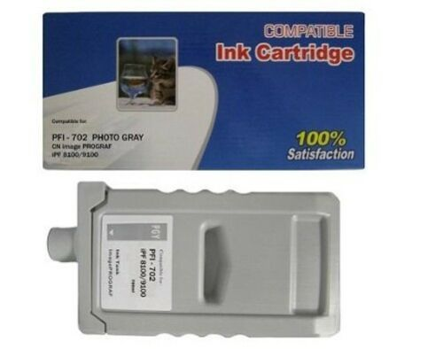 PFI-702 New Compatible ink cartridge for Canon ipf 8100 Photo Gray PFI702