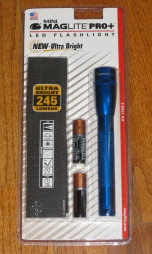 Blue Mag Lite Maglight 245 Lumens MAGLITE PRO PLUS LED 2 Cell AA Flashlight