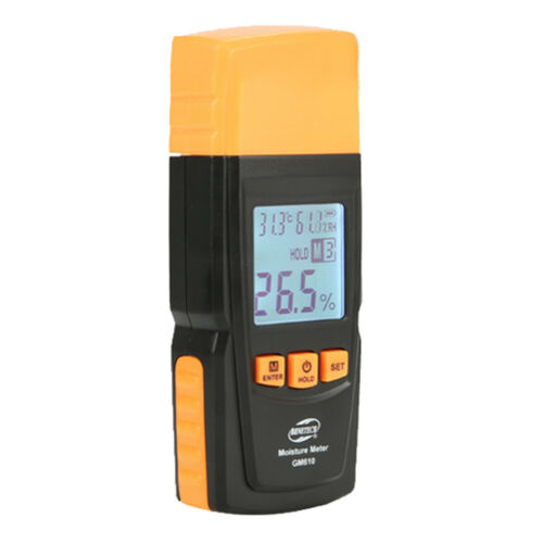 2 Pins Digital Wood Moisture Meter Lumber Damp Tester Detector for Firewood