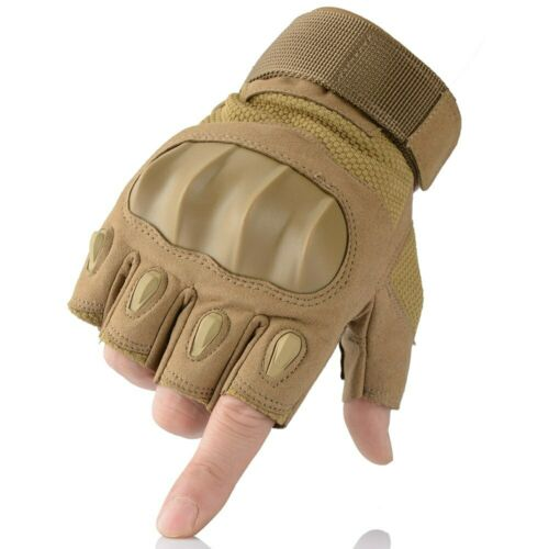 Touchscreen PU Leather Motorcycle Hard Knuckle Full Finger Gloves Protective