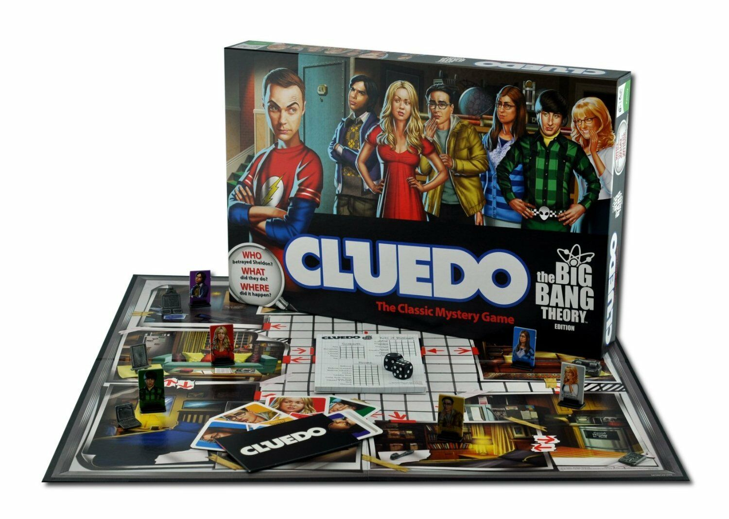 BRAND NEW CLUEDO BIG BANG THEORY BOARD GAME BASED ON THE HIT TV SHOW