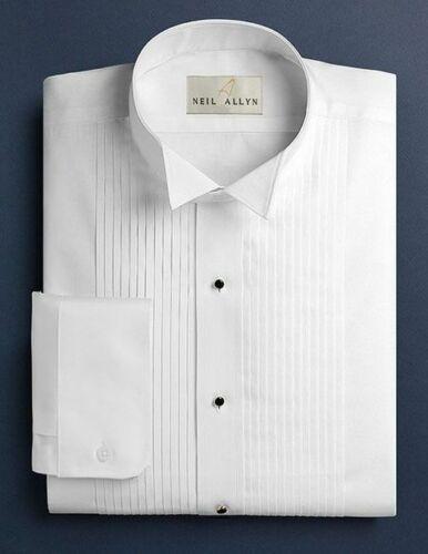 "NWT Boy/'s Wing Collar 1//4/"" Pleats Tuxedo Shirt. L Size XS"