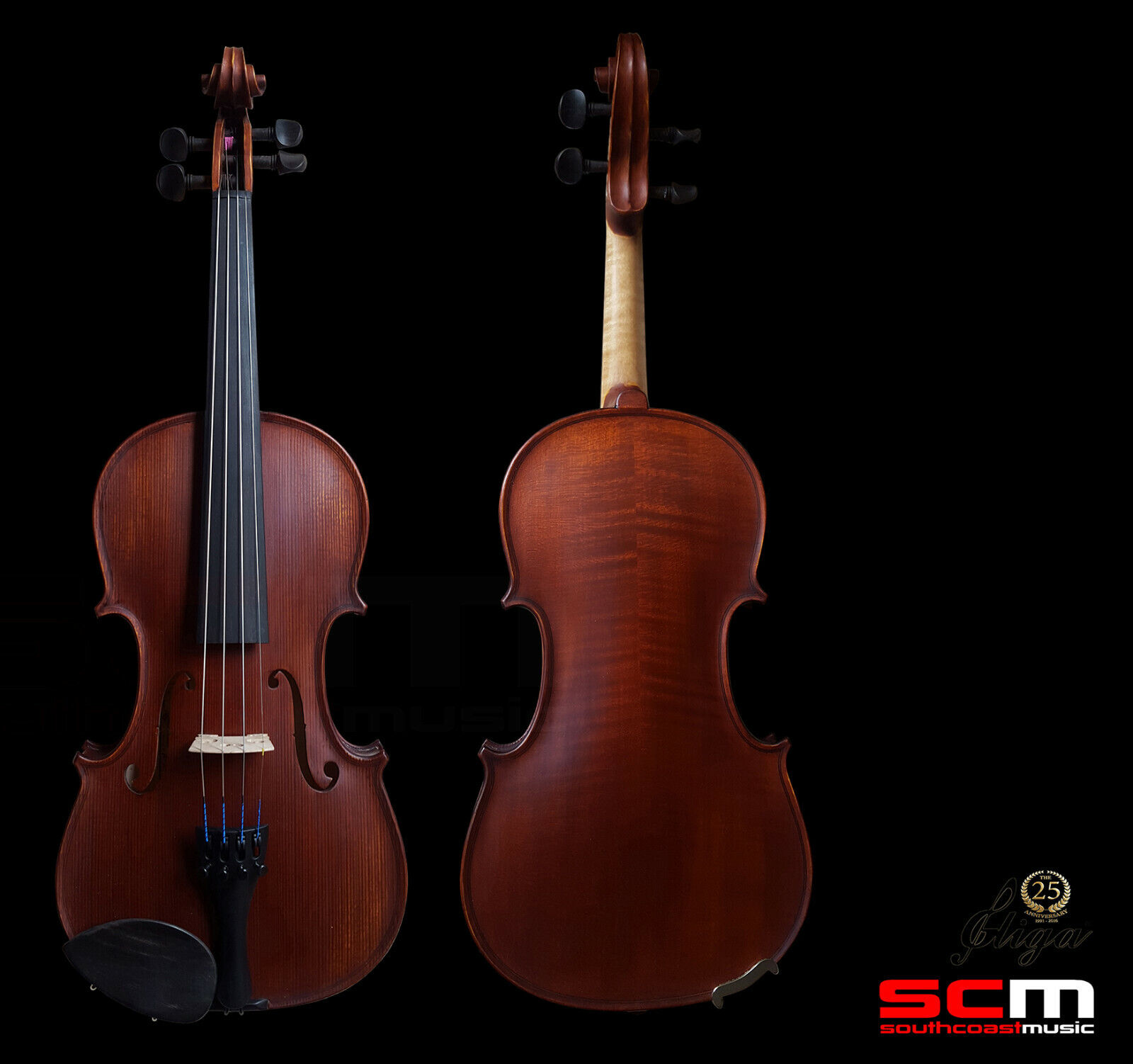 Gliga II 4 4 Violin Dark Antique Finish Professional Setup Hand Made in Romania