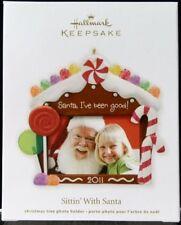 Hallmark Keepsake 2011 Sittin With Santa Photo Christmas Ornament