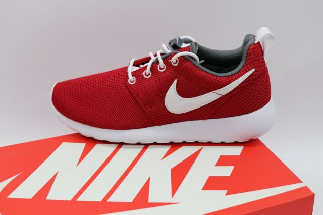 sports shoes 7015a af321 NIKE ROSHE ONE GS Kid's Shoe Gym Red White Dark Grey Boy's Sz US 4Y Brand  New