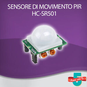 PIR SENSORE RILEVATORE INFRAROSSO VOLUMETRICO MOVIMENTO HC-SR501 ROBOT ARDUINO