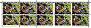 MINNESOTA-1983-STATE-FISH-STAMP-BROWN-TROUT-by-Edward-Philpot-FULL-SHEET-OF-10